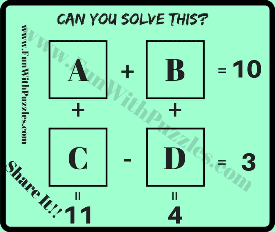 Easy Mathematical Puzzle Questions with Answers for ...