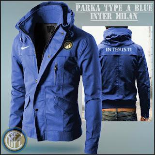 Jaket Hoodie Distro Bola Parka Inter Milan Blue
