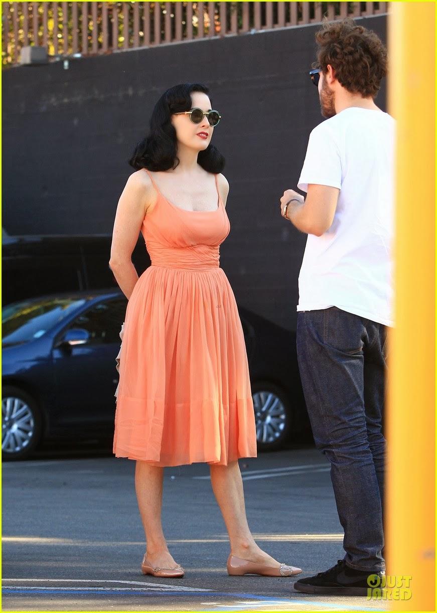 Celeb Diary Dita Von Teese In Los Angeles