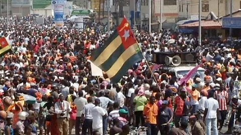 """""""President Gnassingbe Faure Exit"""" – Protesters in Togo Cries"""