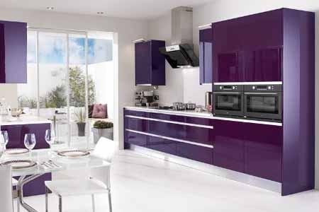 Kitchen Set Minimalis Kombinasi Warna Ungu Putih Pakar Properti