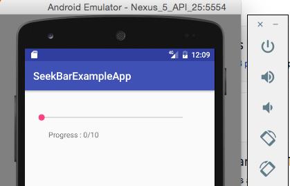 Android SeekBar example - Java2Blog