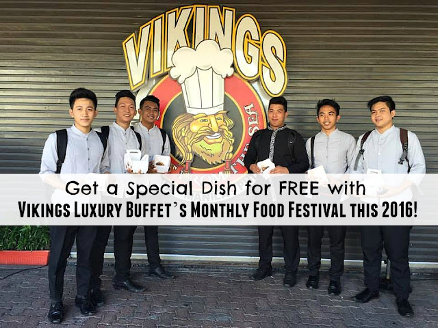 Get a Special Dish for FREE with Vikings Luxury Buffet's Monthly Food Fest