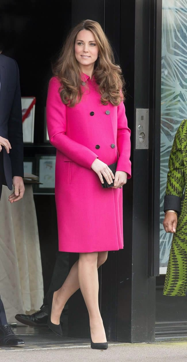 Kate Middleton Recycles Pink Coat For Last Outing Before Giving Birth