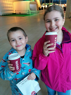 Dan Jon Jr and Top Ender having a Costa