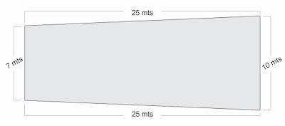 Calcular Metragem do Terreno com medidas diferentes