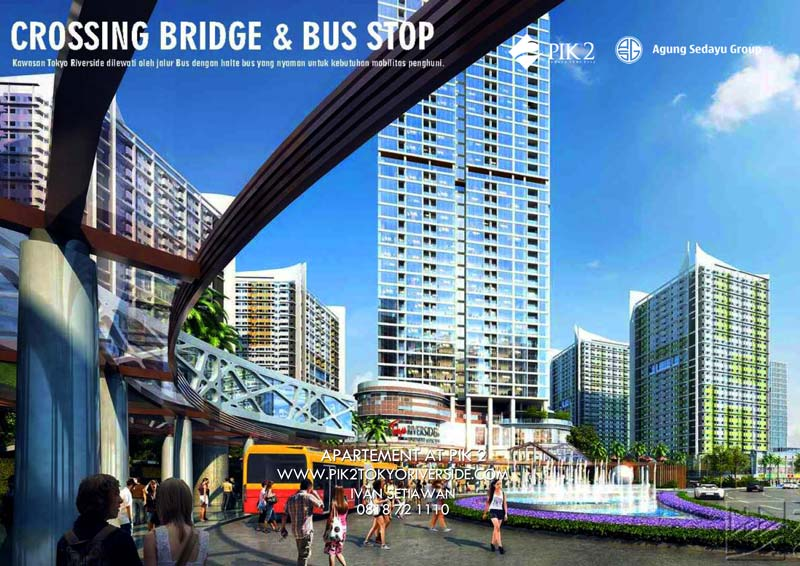 buss drop off apartemen tokyo riversdie pik 2