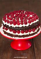 Tort czekoladowy z malinami (bez mąki)