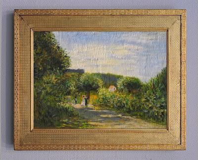 A Road in Louveciennes, copy . Renoir.