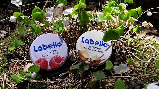 Plechový obal Labello Lip Butter Raspberry Rosé a Vanilla & Macadamia