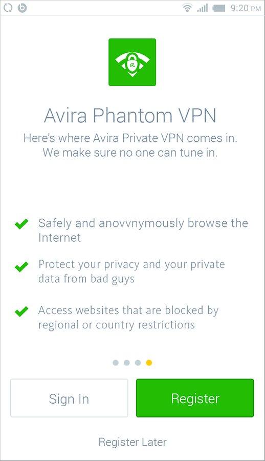 تحميل برنامج avira phantom vpn