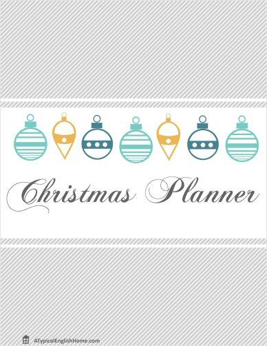 A Typical English Home Printable Christmas Planner 2013