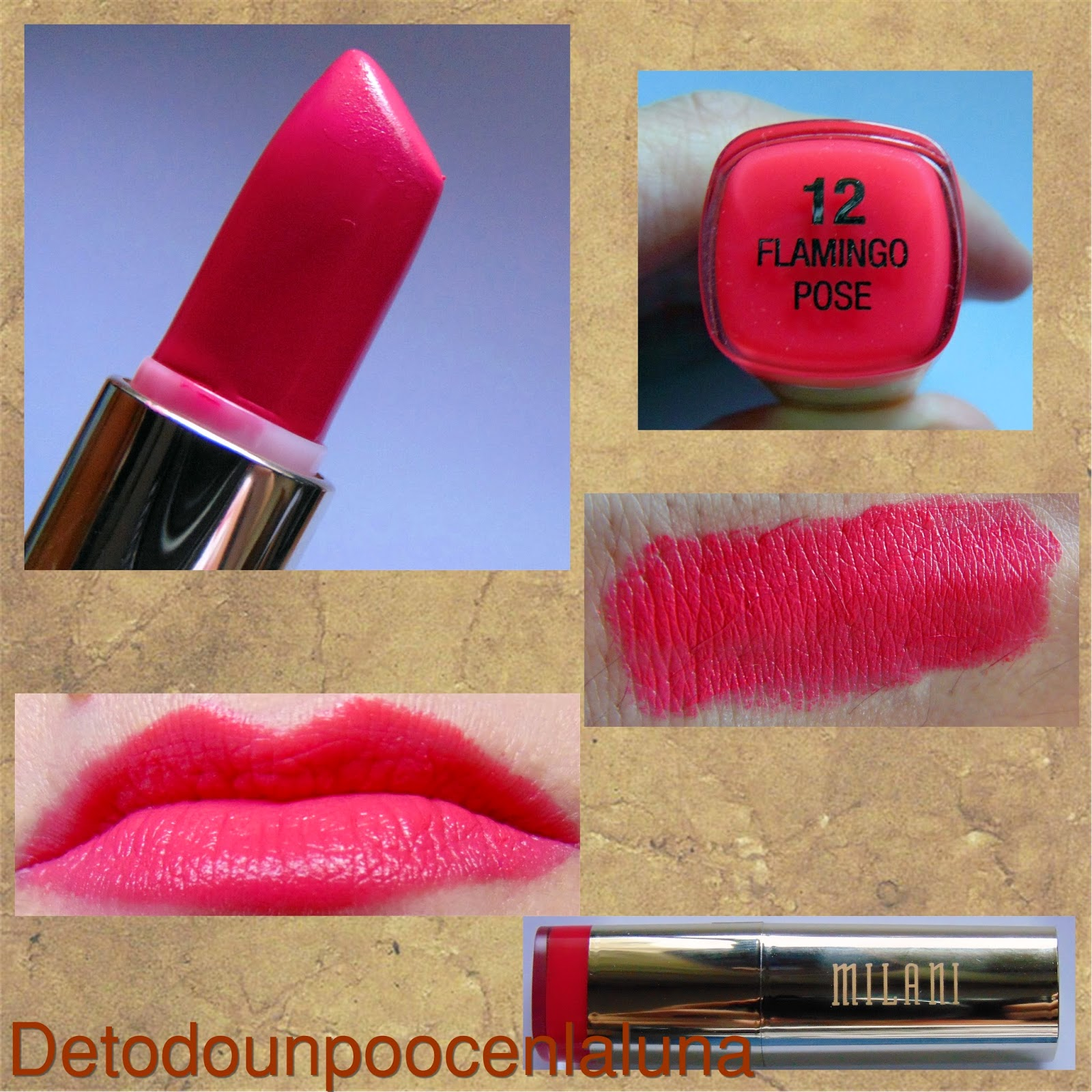 labial flamingo pose milani