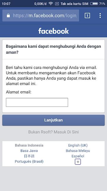 Masukan alamat email yang kamu gunakan.