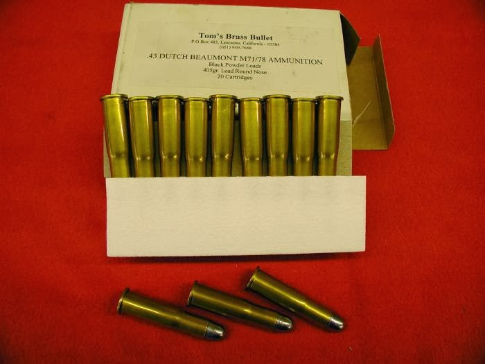.43 (11x52) Dutch Beaumont Ammo