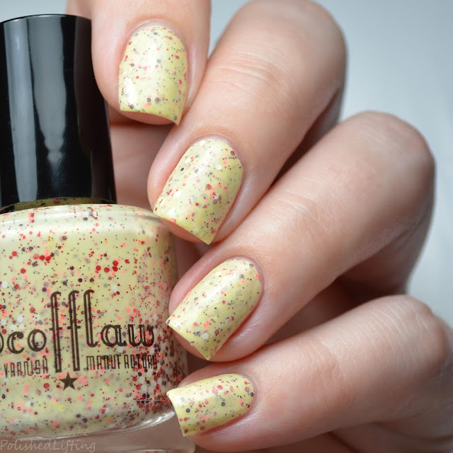 yellow crelly nail polish