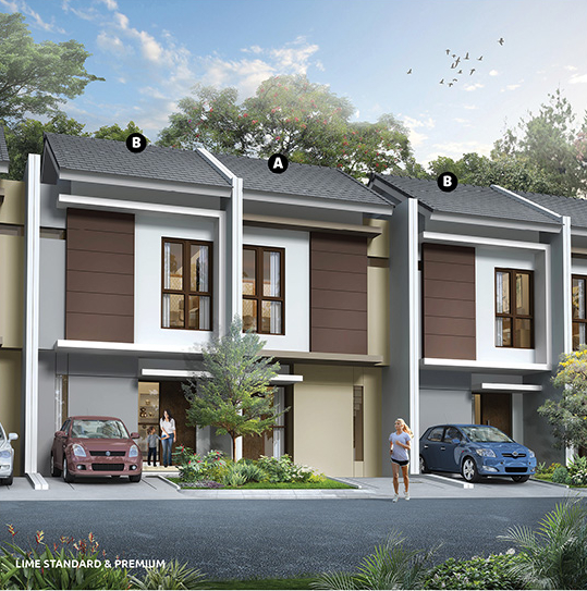 Contoh Denah Rumah Kampung  lingkar warna denah rumah minimalis ukuran 5x11 meter 2