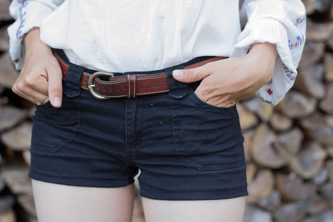 DIY Cropped Shorts