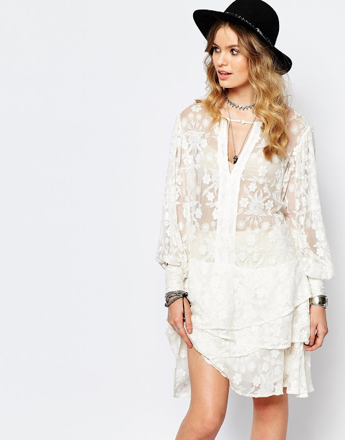 stevie may white layer dress,