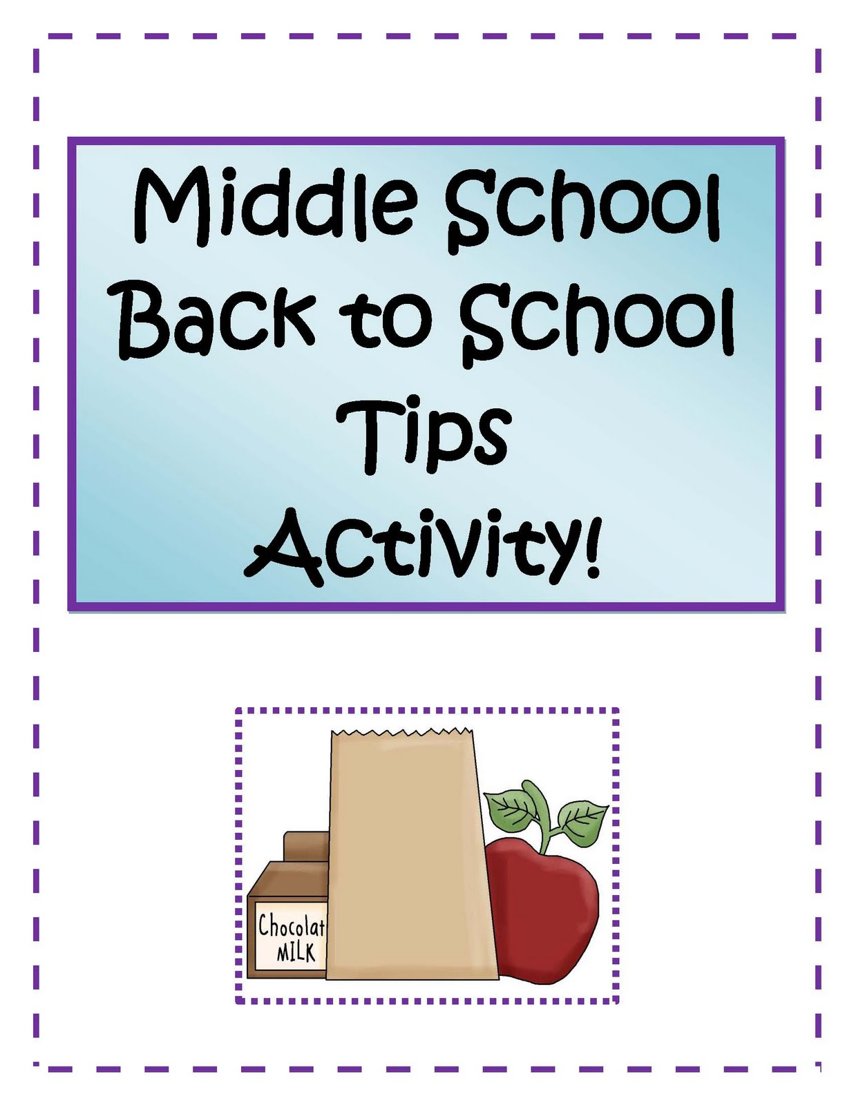 Little Miss Middle School Middle School Back To School Activities