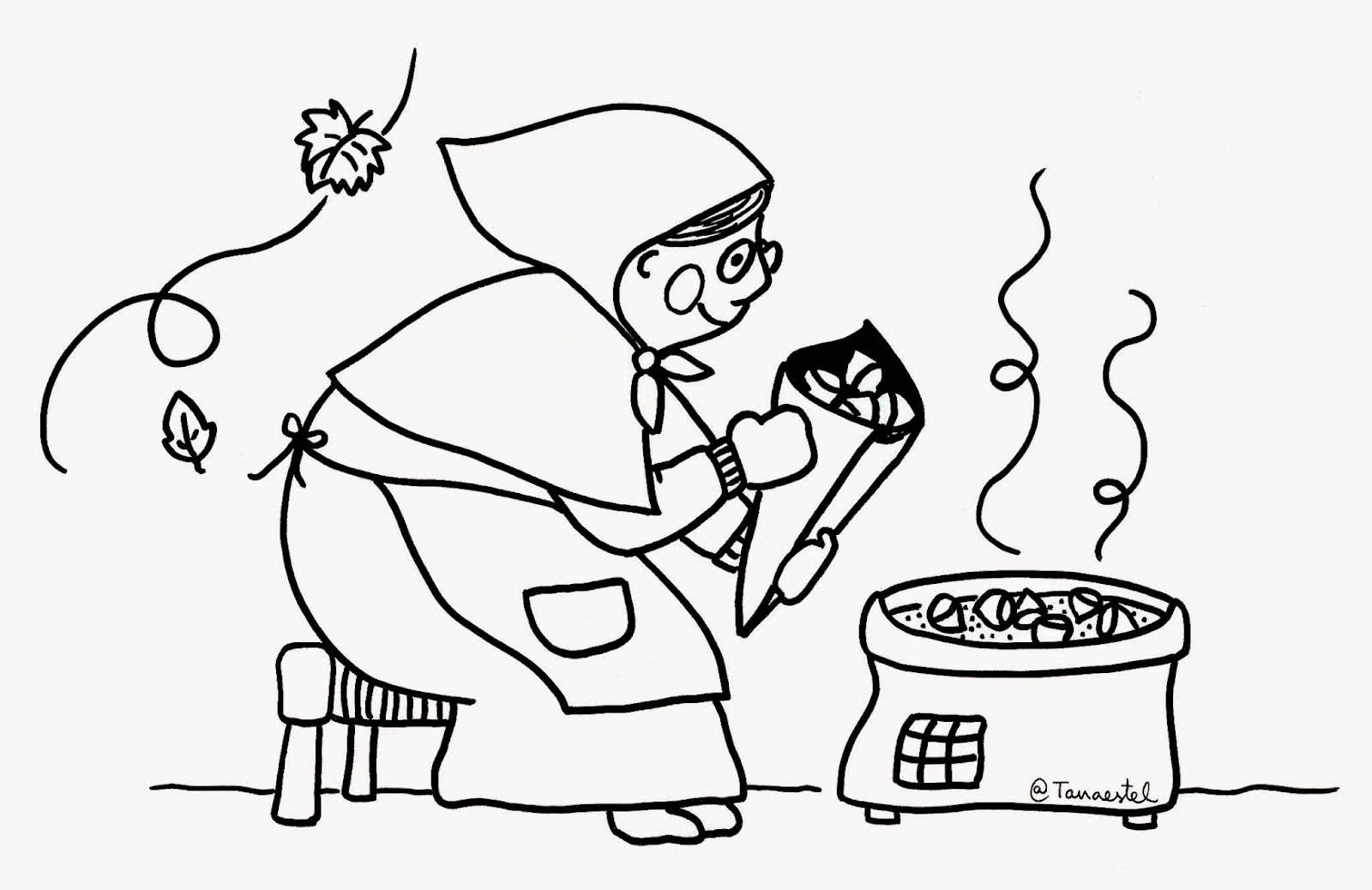 Dibujos De Castanas Para Colorear E Imprimir: Aprender A Educar Creciendo: CASTAÑERA PARA COLOREAR