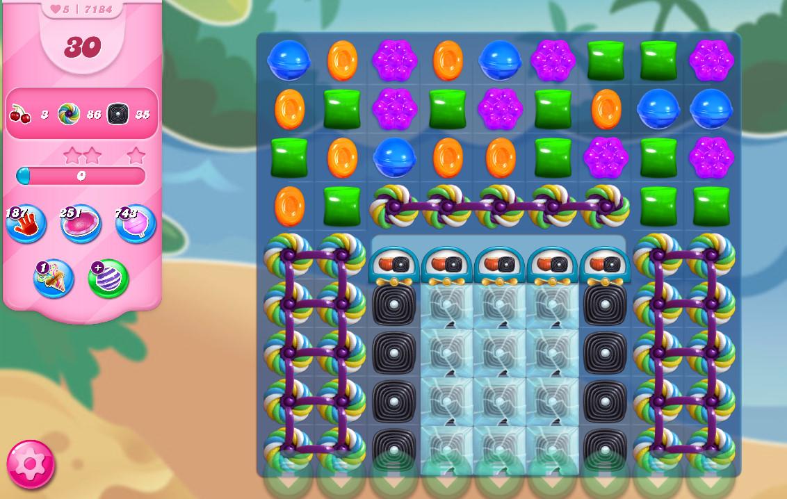 Candy Crush Saga level 7184