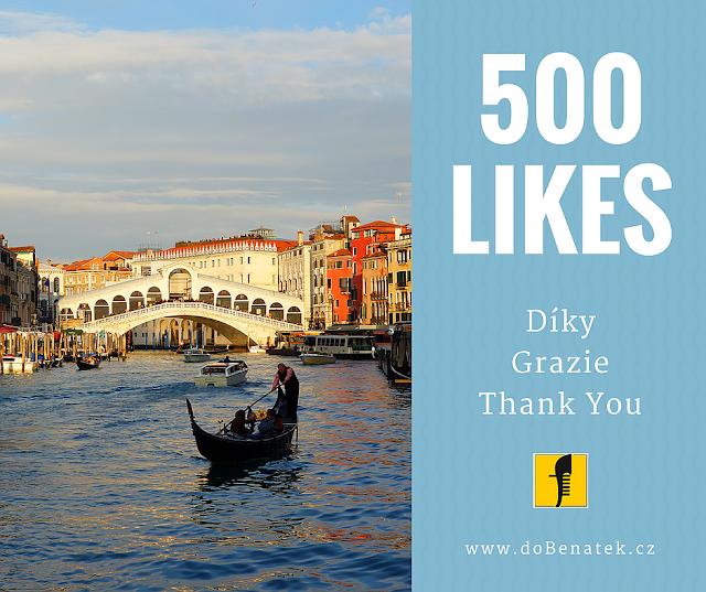 500 lajků pro doBenatek.cz na facebooku