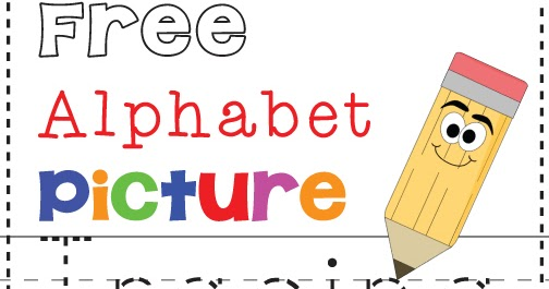 Free Alphabet & Picture Tracing Printables | Totschooling ...