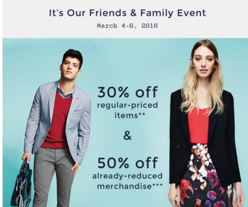 RW&Co Friends & Family 30% Off Regular Price + 50% Off Already Reduced