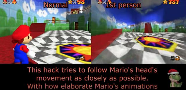 Super Mario 64 se puede vivir en primera persona gracias a este mod