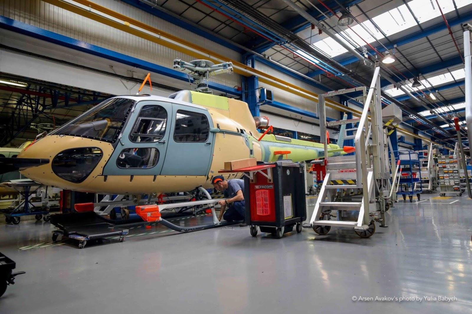 завод де збирають гелікоптери Airbus для України