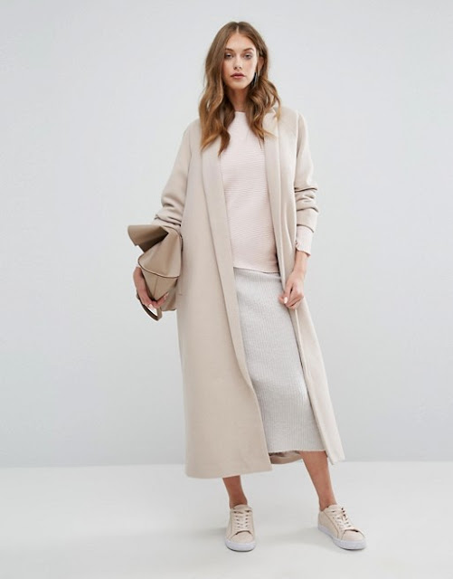 misguided long coat, maxi pastel coat, robe coat,