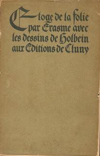 ouvrage Erasme Eloge de la Folie