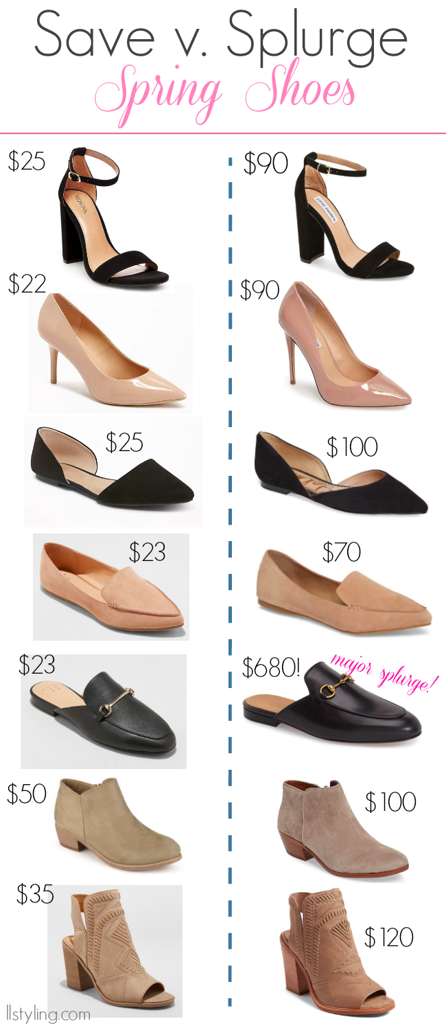Save v. Splurge | Spring Shoes