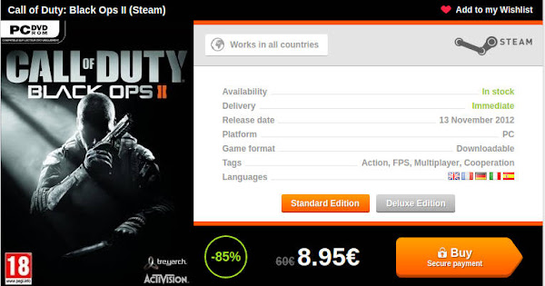 Call of Duty BO2 Instant Gaming