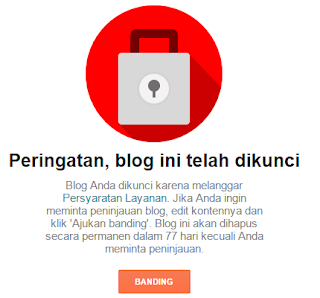 Mengembalikan blog yang dibanned Google.