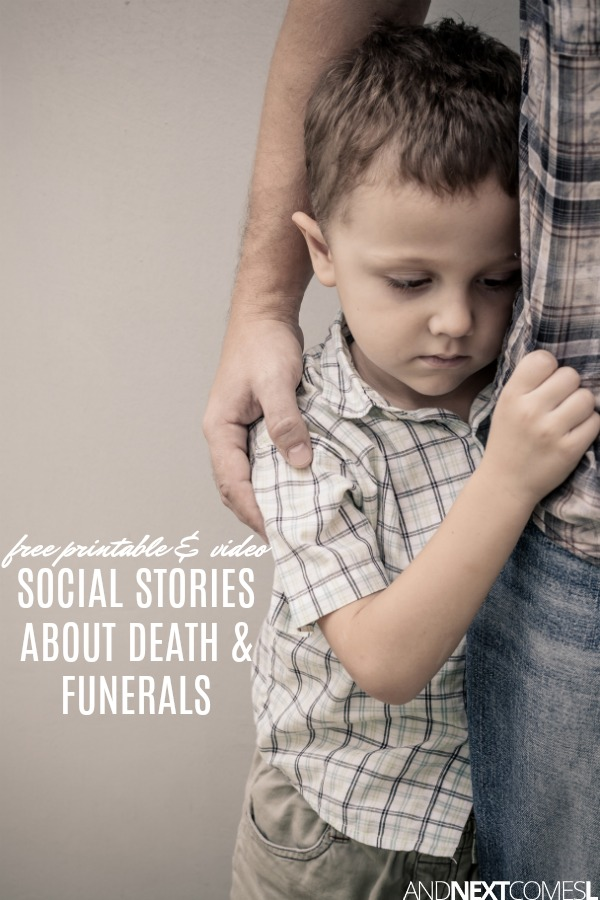 Free printable and video social stories about death and funerals