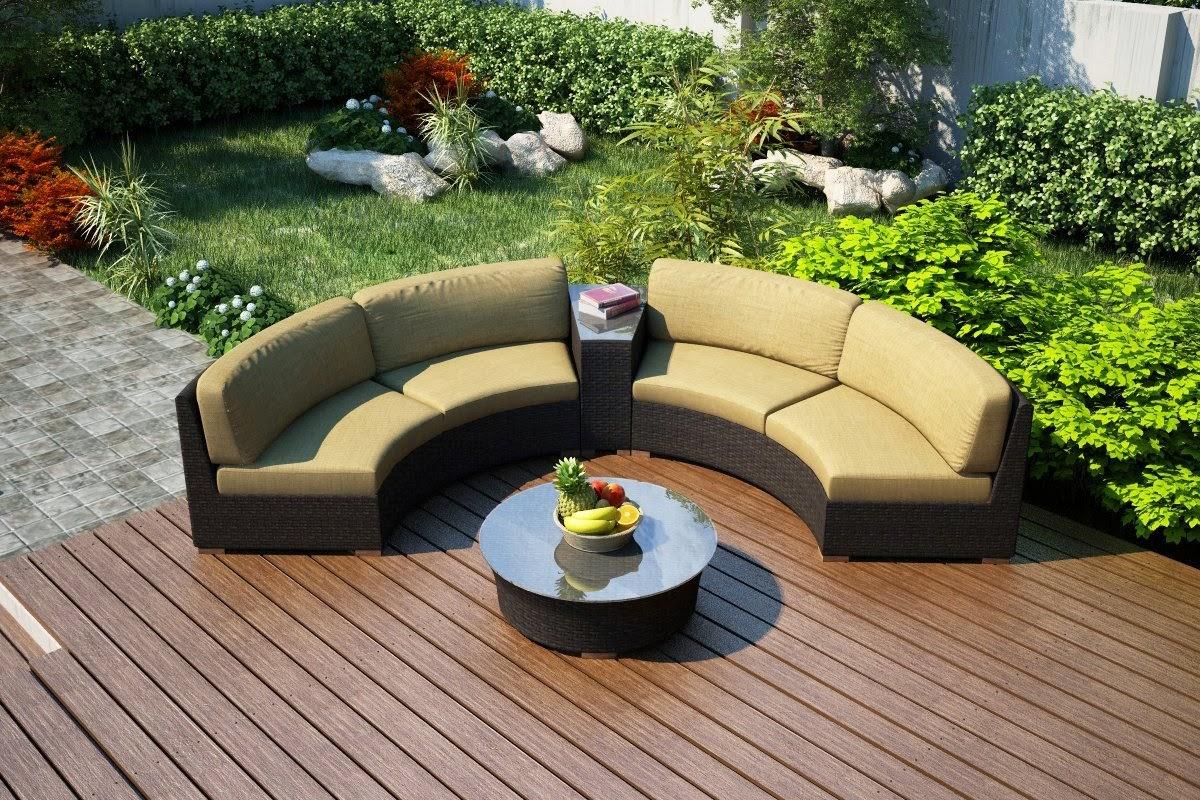 half moon garden sofa set english arm slipcover cheap outdoor curved