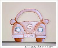 silueta de madera infantil coche escarabajo de babydelicatessen
