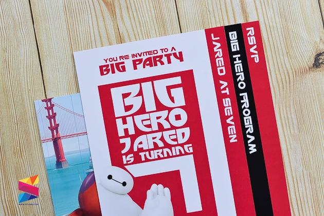 Jared Big Hero 6 Themed 7th Birthday Invitation