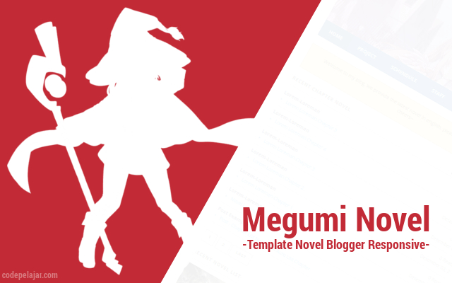 Megumi Novel - Template Novel Blogger Responsive