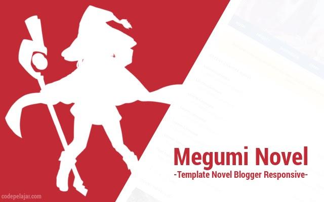 Megumi Novel - Template Novel Blogger