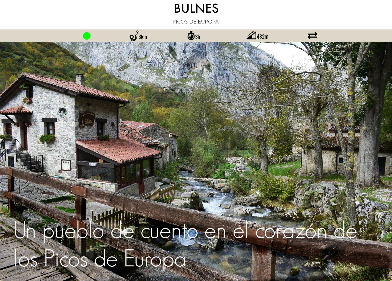 pueblo de bulnes en los picos de europa