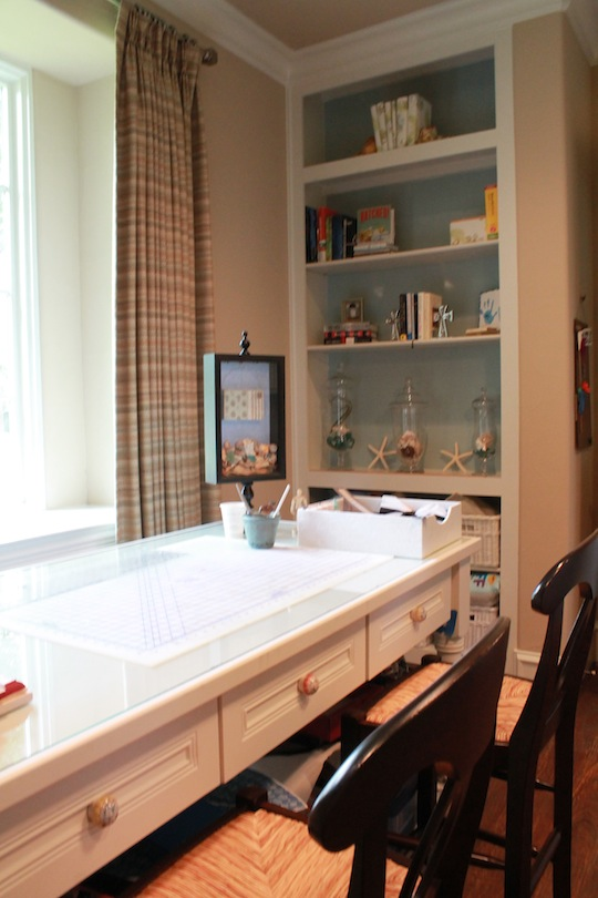 a martha stewart craft room in