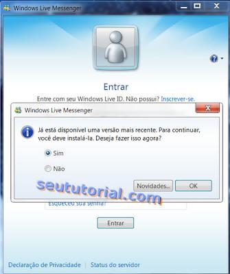 2009 DO BAIXAR INSTALADOR OFFLINE MSN