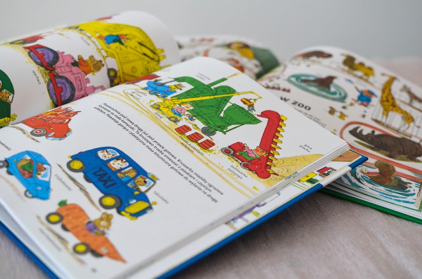 Richard Scarry - jeden z najpopularniejszych amerykańskich autorów książek dla dzieci, recenzja, blog, książki dla dwulatka, elementarz dla dwulatka, słownictwo