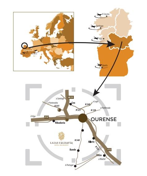 Mapa Situación Hotel Laias Ourense