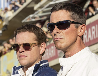 Matt Damon and Christian Bale Wearing Ray-Ban Sunglasses in Ford v Ferrari (2019)