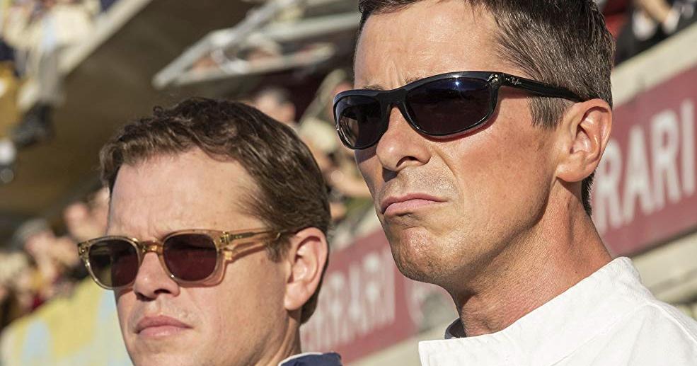 Movie Glasses Matt Damon Sunglasses In Ford V Ferrari With Christian Bale