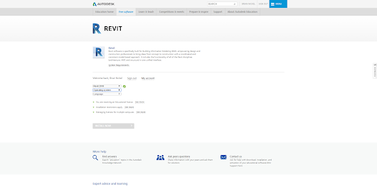 Revit 2018 Student License is Now Available!